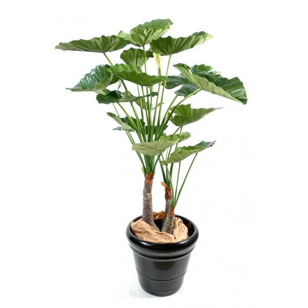 Alocasia calidora 3 troncs arbre artificiel fleurs for Fausse plante verte interieur