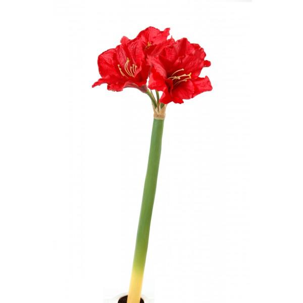 Amaryllis 3fl 1bt fleur artificielle en tige fleurs for Amaryllis fleurs