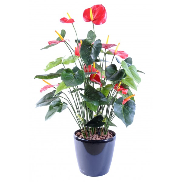 anthurium 7 plante artificielle fleurs plantes. Black Bedroom Furniture Sets. Home Design Ideas