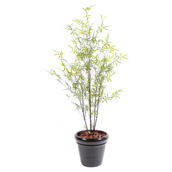 Bambou fine black plast arbre artificiel fleurs for Arbre bambou artificiel
