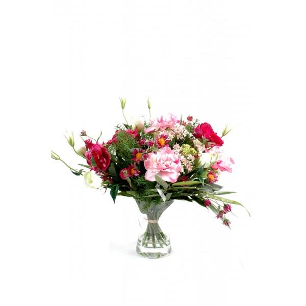 Bouquet fleuri composition artificielle fleurs plantes for Bouquet fleuri