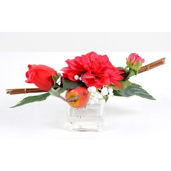 Bouquet Centre De Table Dalhia – Composition artificielle