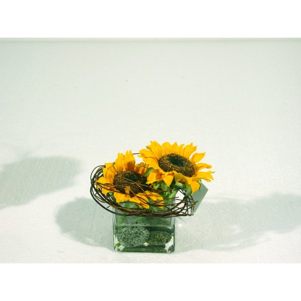 Bouquet Centre De Table Tournesol – Composition artificielle