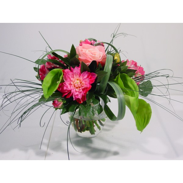 Bouquet Dalhia – Composition artificielle