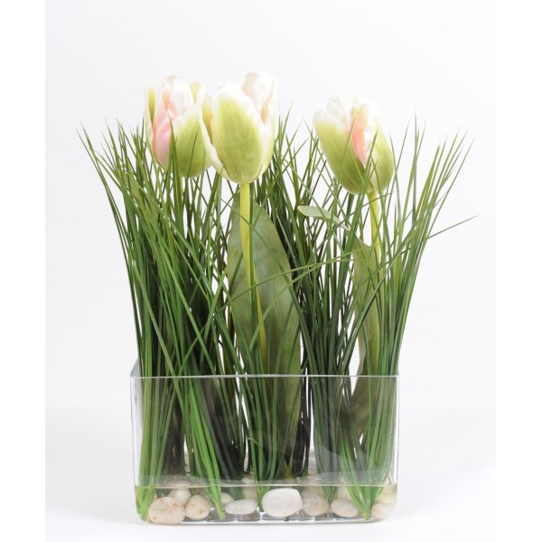 Bouquet Jardiniere Tulipe – Composition artificielle