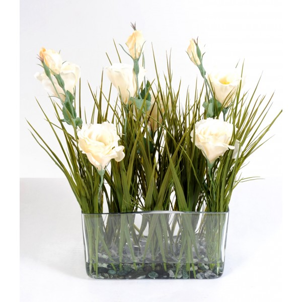 Bouquet Lisianthus – Composition artificielle