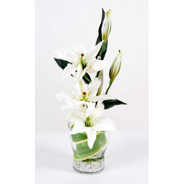 Bouquet Lys Casablanca Nouvelle Fleur 2015 – Composition artificielle