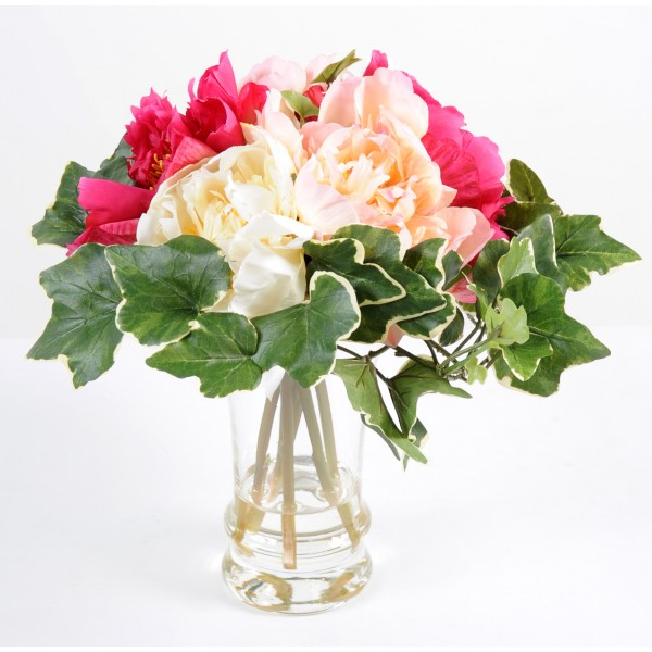 Bouquet Pivoine Br – Composition artificielle