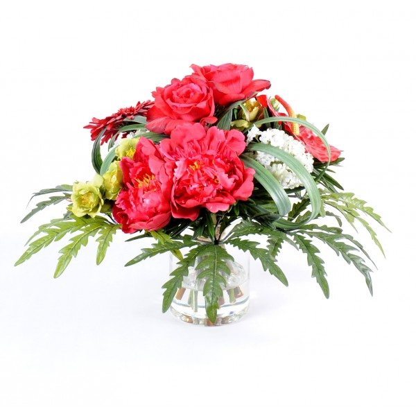 Bouquet Rond R – Composition artificielle