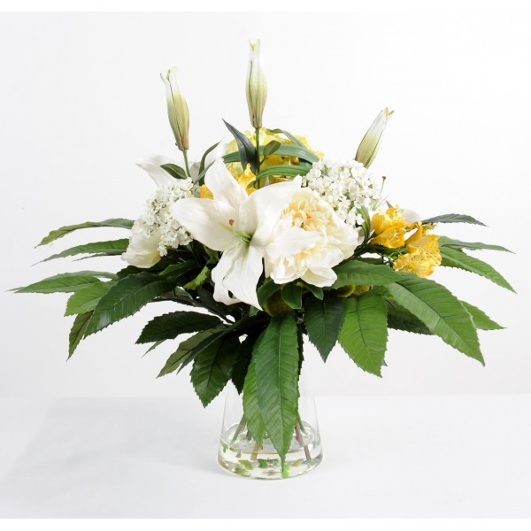 Bouquet Rond B – Composition artificielle