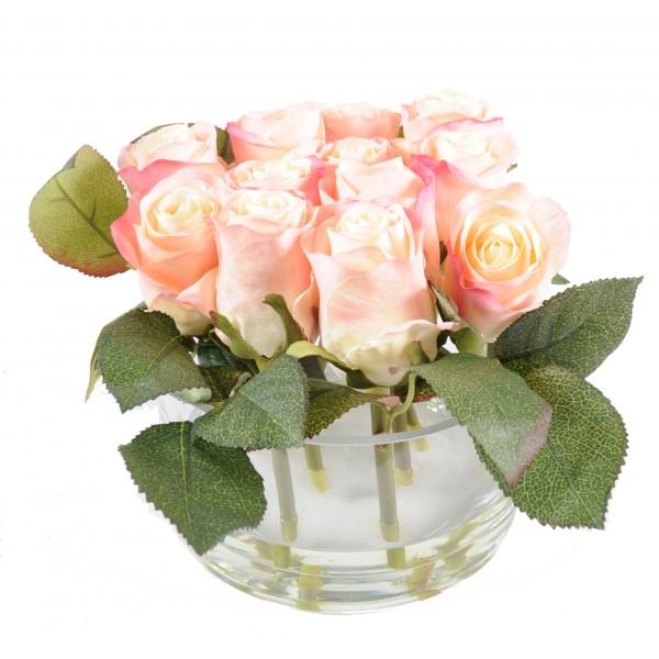 Petite rose artificielle prix achat vente en ligne for Rose artificielle