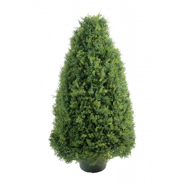 Buis topiaire luxe arbre artificiel fleurs plantes for Arbre artificiel exterieur