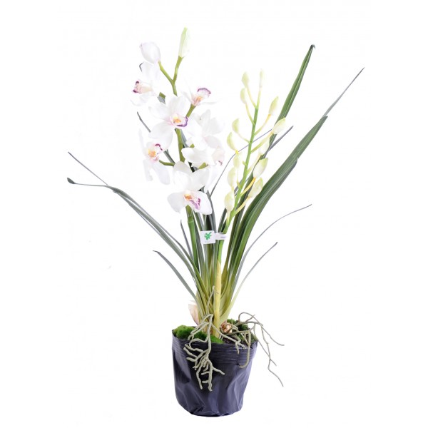 cymbidium plante 80 cm v g tal artificiel fleurs