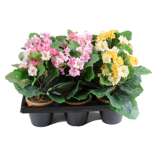 Hortensia Mini Pot En Barquette De 6 – Composition artificielle