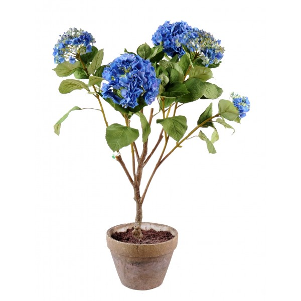 Hortensia Pot Terre – Composition artificielle
