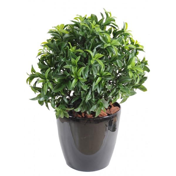 Geranium artificiel jardiniere fleurs plantes artificielles - Laurier tige en pot ...