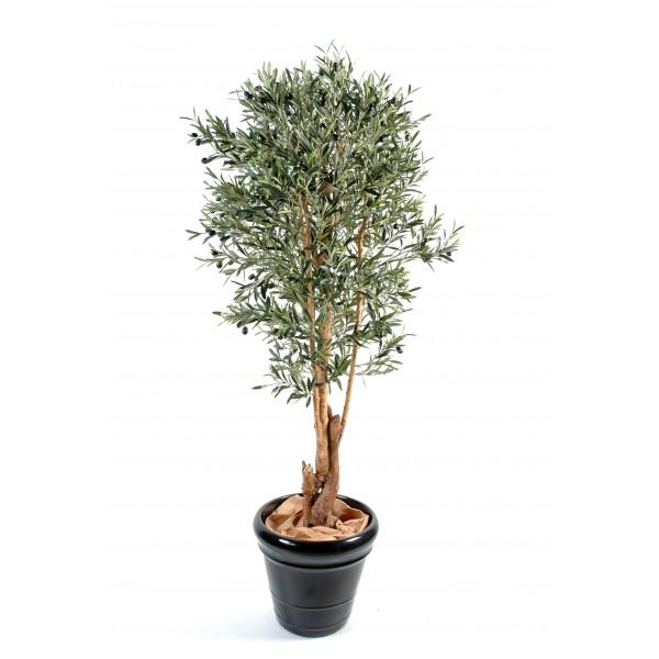 Olivier new tronc noueux arbre artificiel fleurs for Arbres artificiels haut de gamme