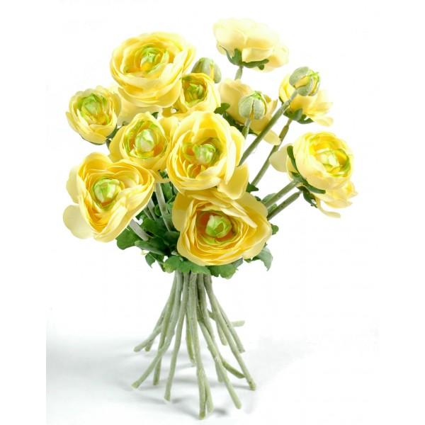 Renoncules bouquet plante artificielle fleurs plantes for Plante artificielle grimpante