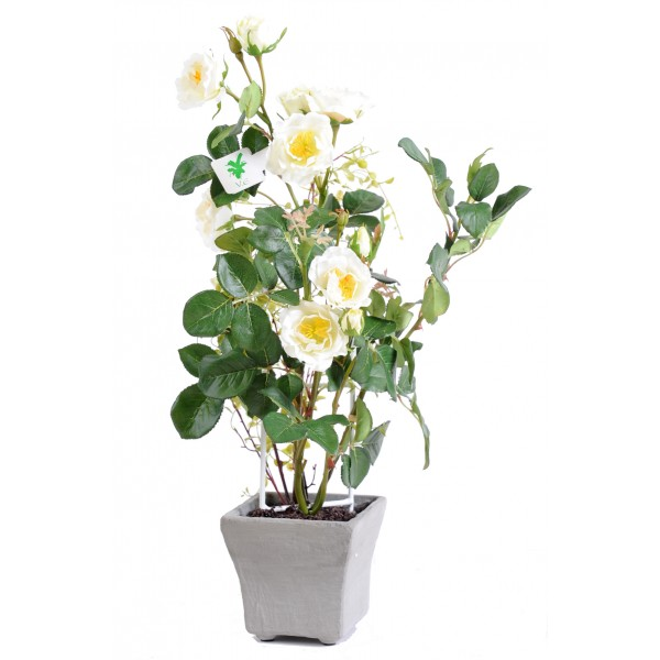 Rosier En Pot 50 Cm – Végétal artificiel